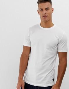 Белая длинная футболка с закругленным краем Only & Sons-Белый