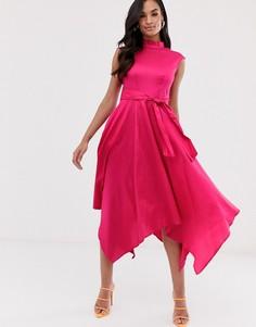 Платье с асимметричным краем Closet-Розовый