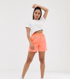 Неоновые выбеленные шорты COLLUSION Petite-Оранжевый