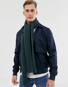 Зеленый вязаный шарф ASOS DESIGN