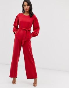 Комбинезон с пышными рукавами Closet-Красный