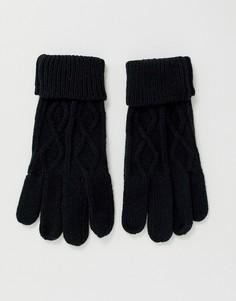 Черные вязаные перчатки Boardmans-Черный