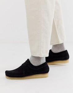 Черные замшевые туфли Clarks Originals-Черный