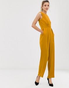 Комбинезон со складками Closet-Желтый