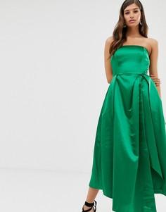 Платье с открытыми плечами Closet-Зеленый