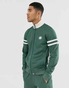 Зеленая спортивная куртка с логотипом Pretty Green-Зеленый