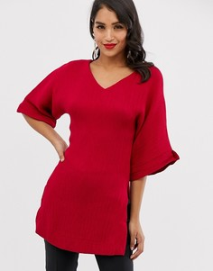 Туника-кимоно с длинными рукавами Closet-Красный