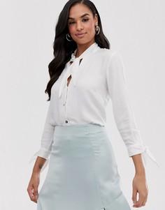 Блузка с завязкой Closet-Белый