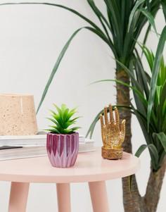 Горшок для цветов с искусственным растением Candlelight-Фиолетовый