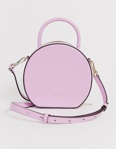 Розовая кожаная сумка через плечо Kate Spade Andi canteen-Розовый