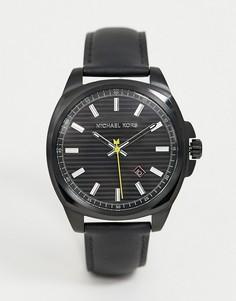 Мужские часы с черным ремешком Michael Kors MK8632-Черный