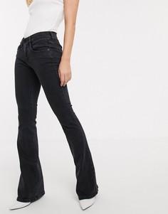 Расклешенные джинсы с классической талией Diesel-Черный