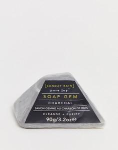 Угольное мыло в форме камня Sunday Rain-Бесцветный