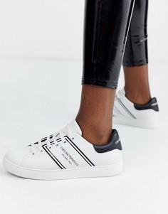 Кроссовки с логотипом Emporio Armani-Белый