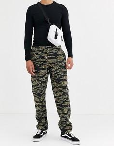 Брюки с тигрово-камуфляжным принтом Obey-Черный