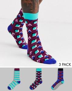 3 пары носков с принтом HS by Happy Socks-Мульти