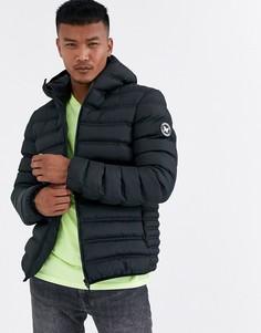 Черная дутая куртка с капюшоном Good For Nothing-Черный