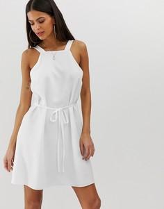 Белое свободное платье River Island-Белый
