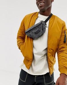 Черная трикотажная сумка-кошелек на пояс вместимостью 2 л Eastpak Springer-Черный