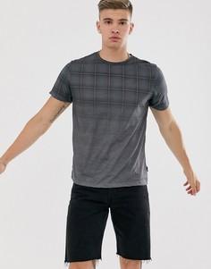 Серая футболка в клетку Burton Menswear-Серый