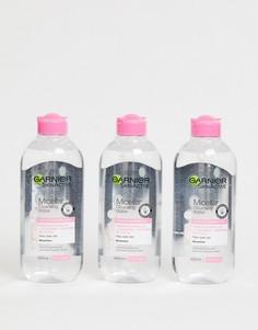 Мицеллярная вода для чувствительной кожи (3 шт.) Garnier - 400 мл - СКИДКА 33%-Бесцветный