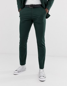 Зеленые облегающие брюки Selected Homme-Зеленый