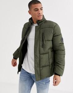 Дутая куртка цвета хаки Burton Menswear-Зеленый
