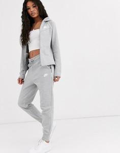Серые флисовые джоггеры Nike-Серый