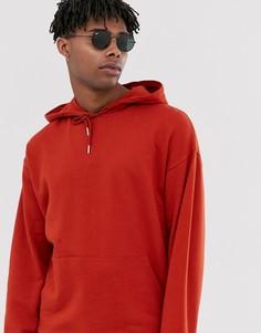 Oversize-худи красного цвета ASOS DESIGN-Красный