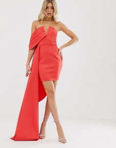 Платье-бандо мини ASOS DESIGN-Красный
