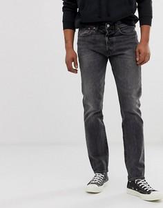 Серые узкие джинсы с суженными книзу штанинами Levis 501 - just grey-Серый