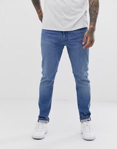 Суженные джинсы с заниженной талией Levis 512-Синий