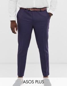 Саржевые брюки скинни ASOS DESIGN Plus Wedding-Красный