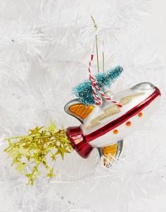 Новогоднее украшение в виде ракеты Sass & Belle-Мульти