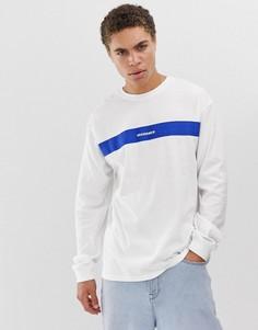Белая футболка с длинным рукавом Mennace-Белый