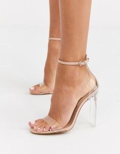 Босоножки на каблуке ALDO Aserania lucite-Бежевый