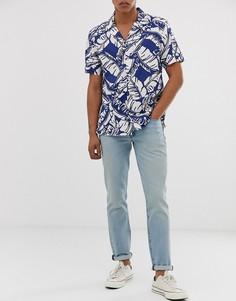 Светлые узкие джинсы с заниженной талией Levis 511 - lemon subtle adapt-Синий