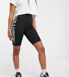 Леггинсы-шорты с логотипом COLLUSION-Черный