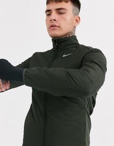 Куртка цвета хаки Nike Running Aerolayer-Зеленый