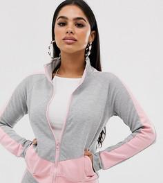 Комбинируемая куртка в стиле колор блок на молнии спереди Parisian Petite-Мульти