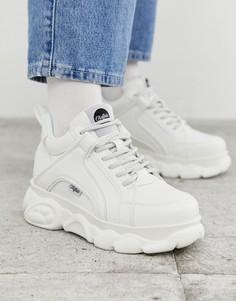 Белые кроссовки на платформе Buffalo-Белый