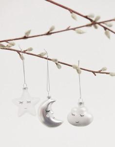 Набор из 3 новогодних елочных украшений Sass & Belle sweet dreams-Мульти
