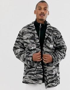 Куртка с тигриным камуфляжным принтом Vintage Supply-Черный