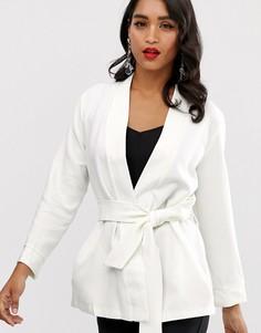 Куртка-кимоно с поясом Closet-Белый
