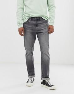 Выбеленные серые суженные книзу классические джинсы Levis 502 - porcini overt advanced grey wash-Серый
