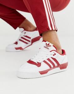 Бело-красные низкие кроссовки adidas Originals rivalry-Красный