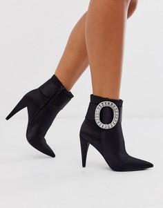 Ботинки со стразами на пряжках ASOS DESIGN Eclectic-Черный