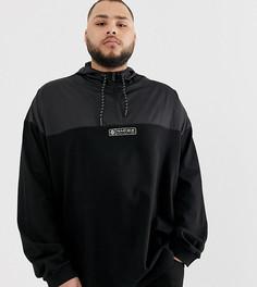 Черная куртка из комбинированной ткани с короткой молнией Puma - Plus эксклюзивно на ASOS-Черный