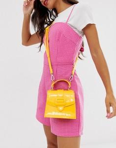 Желтая лакированная мини-сумка Skinnydip Desi-Желтый