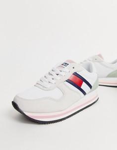 Кроссовки с логотипом-флагом в стиле ретро Tommy Jeans-Белый